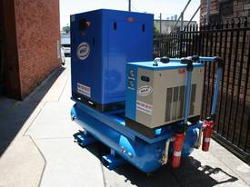 German Rotary Screw - Variable Speed Drive 25hp / 18.5kW Rotary Screw Air Compressor.. Power Savings - picture4' - Click to enlarge