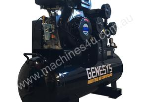 AIR COMPRESSOR DIESEL ENGINE 11 HP 42CFM 160 LITRE PISTON COMPRESSOR