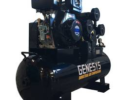 AIR COMPRESSOR DIESEL ENGINE 11 HP 42CFM 160 LITRE