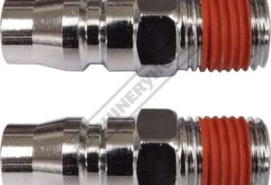 Male Adaptors - Twin Pack High-Flow Air Fittings 1/4