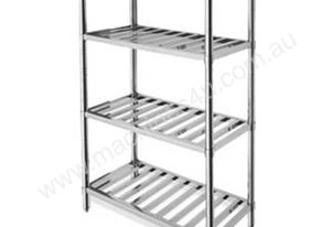 STORAGE SHELF 1200X400X1800MM S/STEEL 4S