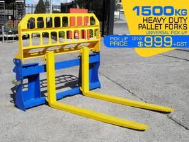 Pallet Forks Bobcat loader Multifit Pickup 1500kg  - picture0' - Click to enlarge