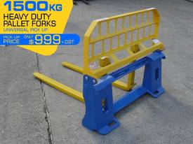 Pallet Forks Bobcat loader Multifit Pickup 1500kg  - picture1' - Click to enlarge