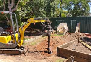 Wacker Neuson 803 with trailer and attachments