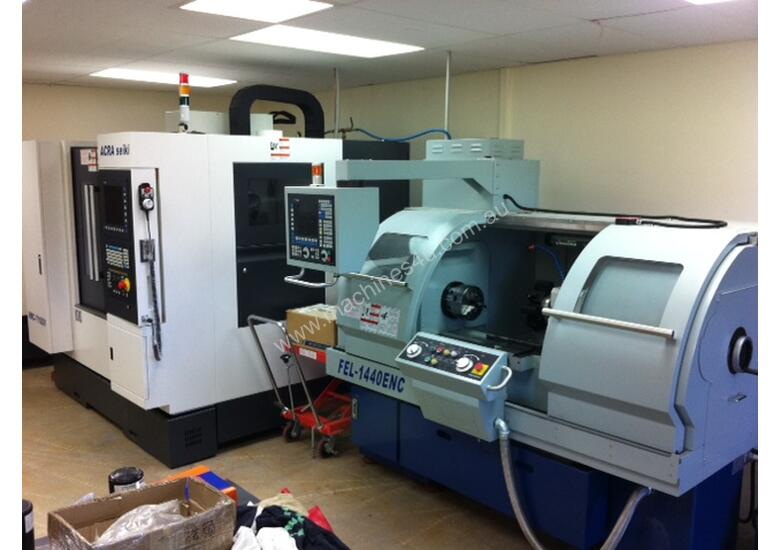Ajax 360mm Swing Flat Bed Teach-In CNC Lathes