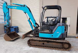 Airman AX50u-4 5ton Excavator with hydrualic hitch and crane valves