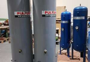 AIR TANKS Vertical. AIR DRYERS + SEPARATOR + SCREW COMPRESSORS