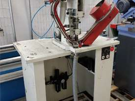 CARR AUTOMATIC EYELET MACHINE 2012 MODEL 16-FEI, PNEUMATIC IN 1 OPERATION ONLY. CAST IRON PUNCH $225 - picture0' - Click to enlarge