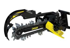Mini Loader Attachments - Digga Bigfoot Trencher for mini loader SOLD BY Mini Machines Direct