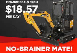 Sany SY18C 1.7T Mini Excavator - FROM $18.57 PER DAY*