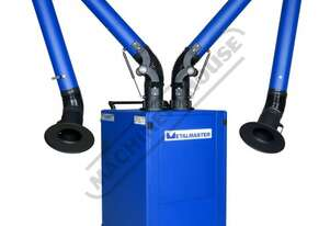 D-H13 Mobile Welding Fume Extractor - Twin Arm Dual Stage Filter System H13 HEPA Filtration & High V
