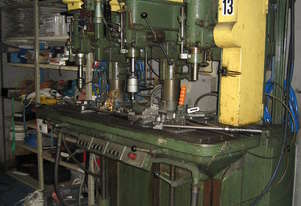 3-Head Gang Drilling & Tapping Machine with Air-Operated Controls & Pedals