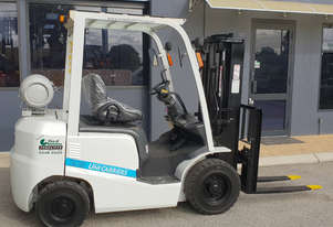 Uni-Carriers 2000kg LPG Forklift with 4350mm Three Stage Container Mast (Late Model & Low Hours)