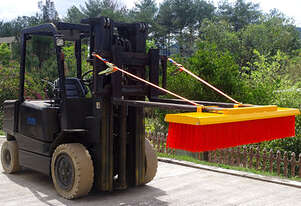 Forklift Broom 1200mm 8 x Bristle Rows Heavy Duty