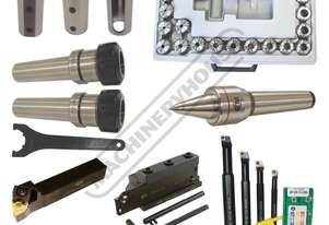 L771T L40 CNC Lathe Starter Tooling Package Deal Includes Turning, Parting & Boring Tools, Collet Ho
