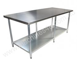 Brayco 3672 Flat Top Stainless Steel Bench (914mmW