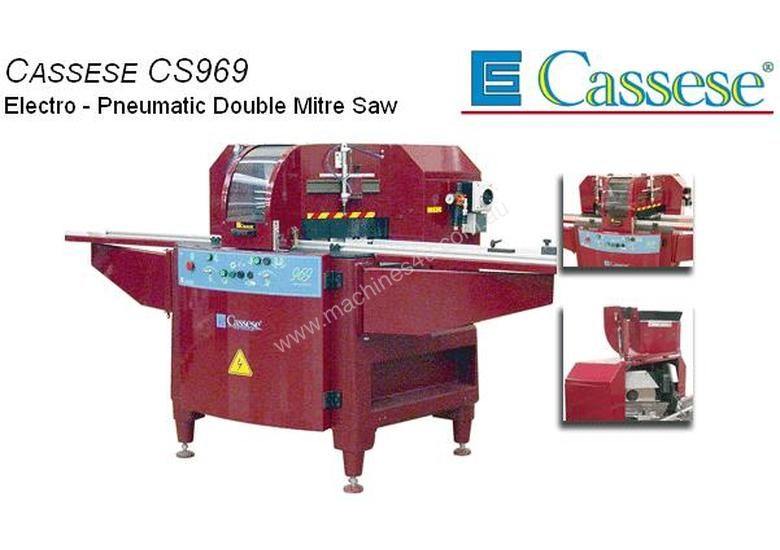 Cassese CS969 Electro - Pneumatic Double Mitre Saw