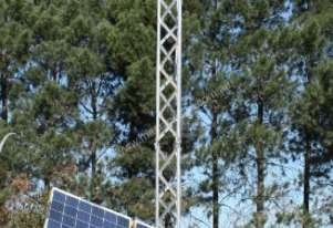 Lighting Tower 300W LED, sun tracking, battery