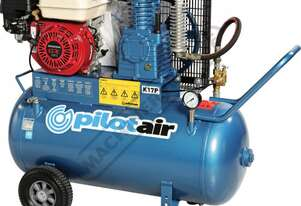 K17P Petrol  Powered Pilot Air Compressor 100 Litre  Air Receiver  / Honda GX160 16.3cfm / 463lpm Pi