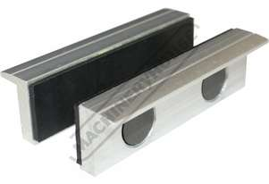 V0534 Aluminium Magnetic Soft Jaws Rubber Face 100mm