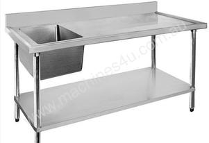 F.E.D. Economic 304 Grade SS Single Sink Benches 1200x600x900 with 400x400x250 sink