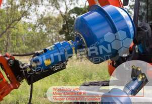 75mm Shaft 180L Cement Mixer for Excavators ATTMIX
