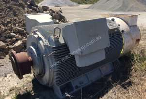 1200 kw 1600 hp 8 pole 660 volt Siemens Electric Motor