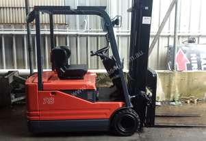 Toyota 1.8 Ton 3 Wheel Electric Forklift New Battery Container Mast