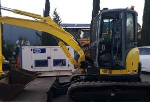 USED 2011 YANMAR VIO55-5B EXCAVATOR WITH FULL CABIN, HITCH AND BUCKETS
