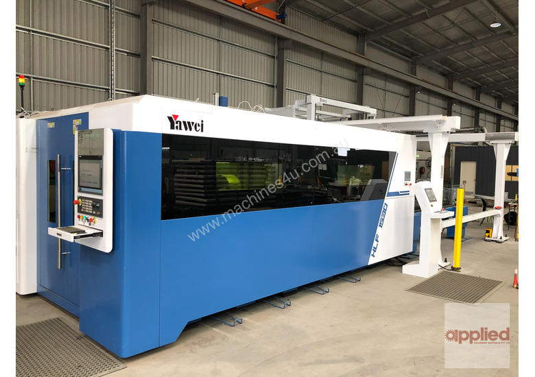 Yawei HLX series high speed, high specification fiber lasers. 8kW coming to stock for AUSTECH LAUNCH