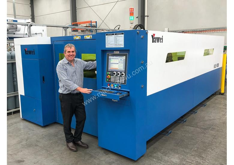 Yawei high speed, high spec fiber lasers. 8kW SOLD after Austech to savvy Australian manufacturer.