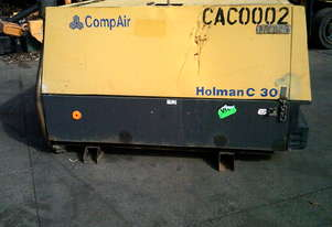 C30 110cfm  compair air compressor , 2 cyl deutz , 752 hrs , ex local goverment