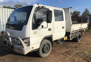 2006 Isuzu 400 twin cab with steel tipping body with sides and tail gate