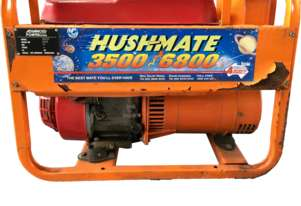 Generator Honda 3.5kVA Portable Petrol HM3500 Hushmate 240 Volt Power Supply
