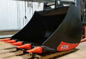 NEW IN STOCK 30t - 35t Excavator 1500mm Bucket, Australian Made, Choice of Hitch, G.E.T, Colour