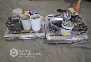 2 X PALLETS COMPRISING OF FASTENERS, CONCRETE RISERS & BRACKETS