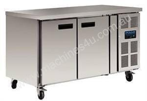 Polar G596-A - 2 Door Counter Fridge 282Ltr