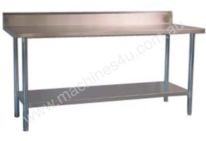 Alphaline ALP-SB-70140 Stainless Steel Bench with Splash Back 1400 x 700 304 Grade