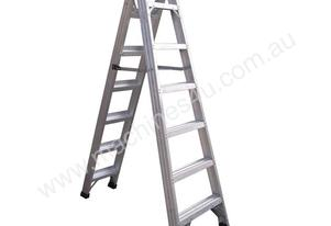 1.8M ALUMINIUM DOUBLE SIDED STEP LADDER