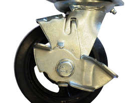 42083 - RUBBER MOULDED IRON WHEEL CASTOR(SWIVEL/BRAKE) - picture0' - Click to enlarge