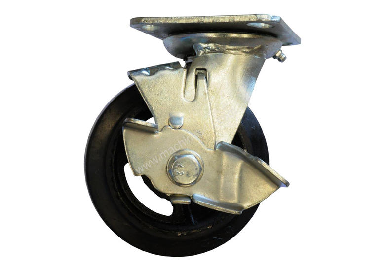 42083 - RUBBER MOULDED IRON WHEEL CASTOR(SWIVEL/BRAKE)