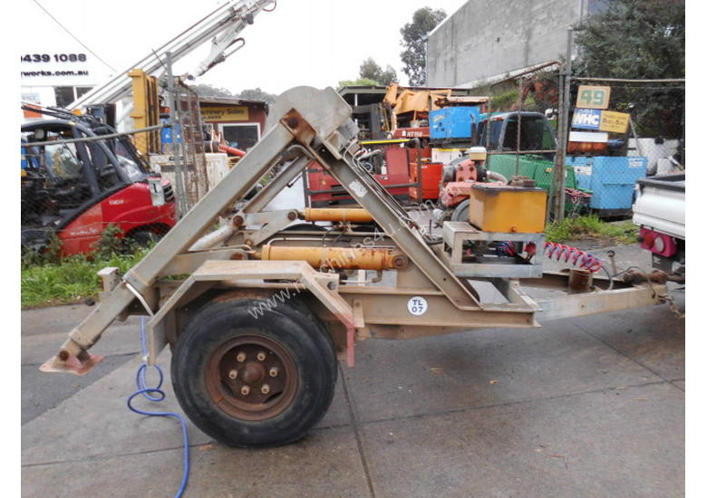3ton cable drum trailer , 1cyl diesel , galverised