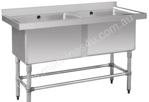 F.E.D. 1410-6-DSB Stainless Steel Double Deep Pot Sink
