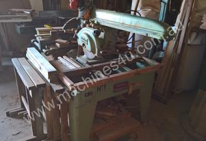 Overhead Radial arm 3 Phase Cross Cut saw with swi