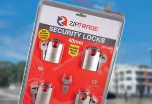 40MM ZIPTRADE SECURITY PADLOCK SET