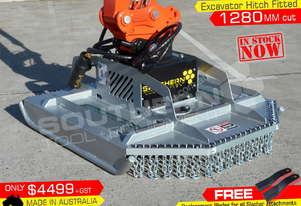 4' Foot 1280mm Slasher Brush Cutter mower Excavator Pick Up only ATTSLAS
