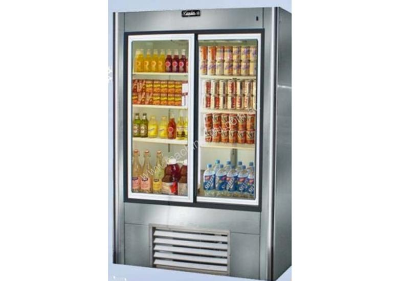 New Mitchel Refrigeration Glass 2 Door Drinks Refrigerator Sliding