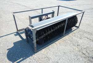 Unused 1800mm Hydraulic Angle Broom to suit Skidsteer Loader - 10419-30