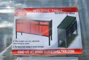 2.2m x 0.66m x 0.8m Welding Table - 6452-12