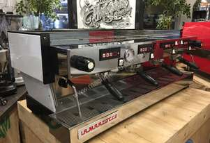 LA MARZOCCO LINEA CLASSIC 4 GROUP WHITE ESPRESSO COFFEE MACHINE WITH CRONO TOUCH